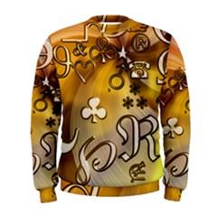 Symbols On Gradient Background Embossed Men s Sweatshirt