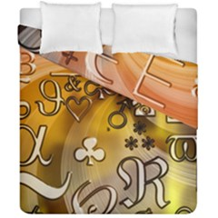 Symbols On Gradient Background Embossed Duvet Cover Double Side (california King Size)