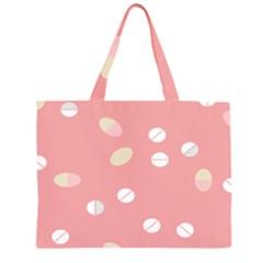 Drug Pink Zipper Large Tote Bag