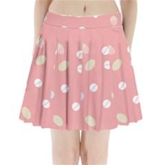 Drug Pink Pleated Mini Skirt