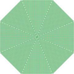 Green Tablecloth Plaid Line Hook Handle Umbrellas (Large)