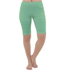 Green Tablecloth Plaid Line Cropped Leggings