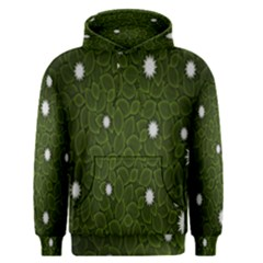 Graphics Green Leaves Star White Floral Sunflower Men s Pullover Hoodie