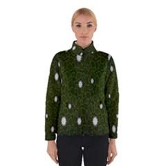 Graphics Green Leaves Star White Floral Sunflower Winterwear