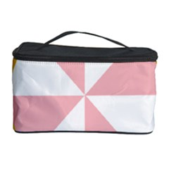 Learning Connection Circle Triangle Pink White Orange Cosmetic Storage Case