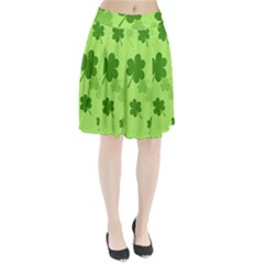 Leaf Clover Green Line Pleated Skirt