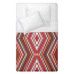 Indian Pattern Sweet Triangle Red Orange Purple Rainbow Duvet Cover (single Size)