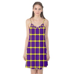 Optical Illusions Circle Line Yellow Blue Camis Nightgown