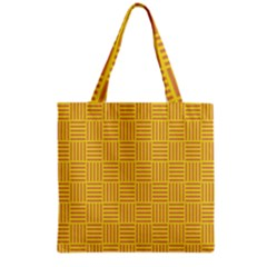 Plaid Line Orange Yellow Grocery Tote Bag