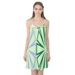Starburst Shapes Large Green Purple Camis Nightgown