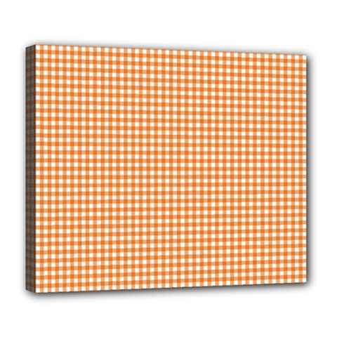 Orange Tablecloth Plaid Line Deluxe Canvas 24  x 20