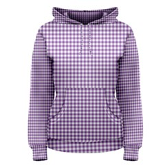 Purple Tablecloth Plaid Line Women s Pullover Hoodie