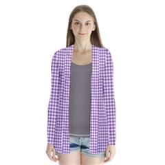 Purple Tablecloth Plaid Line Cardigans