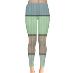 Modern Texture Blue Green Red Grey Chevron Wave Line Leggings
