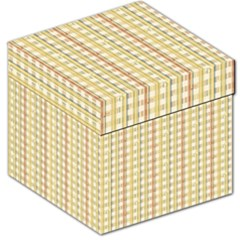 Tomboy Line Yellow Red Storage Stool 12