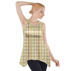 Tomboy Line Yellow Red Side Drop Tank Tunic