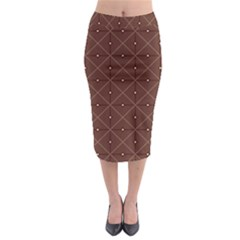 Coloured Line Squares Plaid Triangle Brown Line Chevron Midi Pencil Skirt