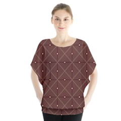 Coloured Line Squares Plaid Triangle Brown Line Chevron Blouse
