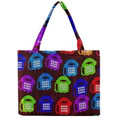 Grunge Telephone Background Pattern Mini Tote Bag