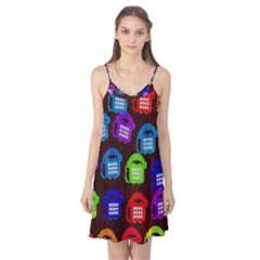 Grunge Telephone Background Pattern Camis Nightgown