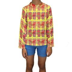 Funny Faces Kids  Long Sleeve Swimwear