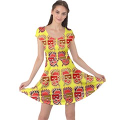 Funny Faces Cap Sleeve Dresses