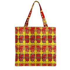 Funny Faces Zipper Grocery Tote Bag