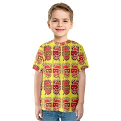 Funny Faces Kids  Sport Mesh Tee