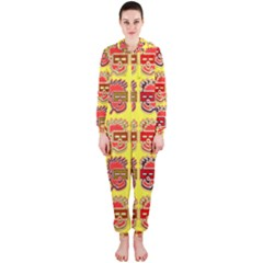 Funny Faces Hooded Jumpsuit (ladies)