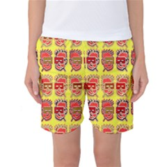 Funny Faces Women s Basketball Shorts