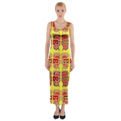 Funny Faces Fitted Maxi Dress