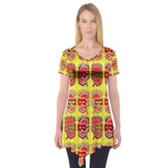 Funny Faces Short Sleeve Tunic