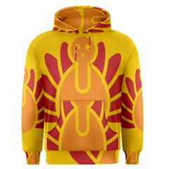Animals Bird Pet Turkey Red Orange Yellow Men s Pullover Hoodie