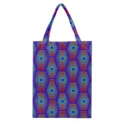 Red Blue Bee Hive Pattern Classic Tote Bag