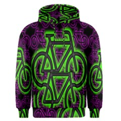 Bike Graphic Neon Colors Pink Purple Green Bicycle Light Men s Pullover Hoodie