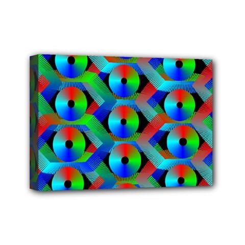 Bee Hive Color Disks Mini Canvas 7  X 5