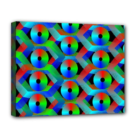 Bee Hive Color Disks Deluxe Canvas 20  X 16