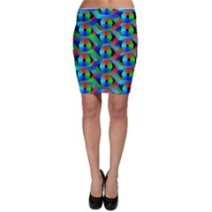 Bee Hive Color Disks Bodycon Skirt