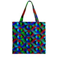 Bee Hive Color Disks Zipper Grocery Tote Bag
