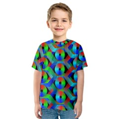 Bee Hive Color Disks Kids  Sport Mesh Tee