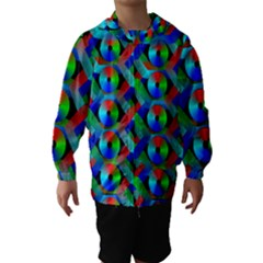 Bee Hive Color Disks Hooded Wind Breaker (kids)