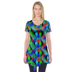 Bee Hive Color Disks Short Sleeve Tunic
