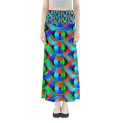 Bee Hive Color Disks Maxi Skirts