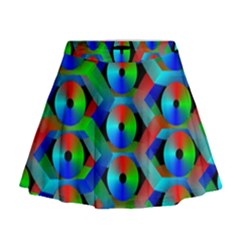 Bee Hive Color Disks Mini Flare Skirt
