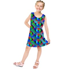 Bee Hive Color Disks Kids  Tunic Dress