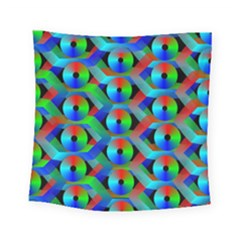 Bee Hive Color Disks Square Tapestry (small)
