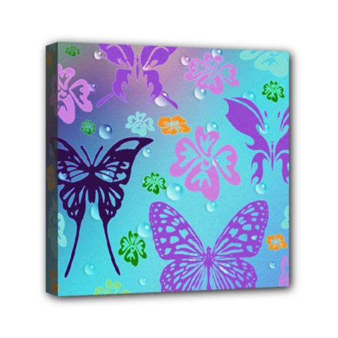 Butterfly Vector Background Mini Canvas 6  X 6
