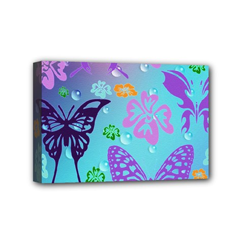Butterfly Vector Background Mini Canvas 6  x 4