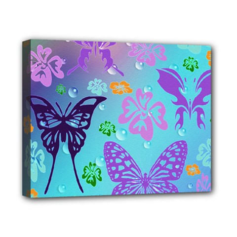 Butterfly Vector Background Canvas 10  X 8