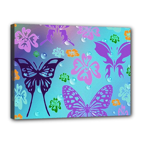 Butterfly Vector Background Canvas 16  x 12
